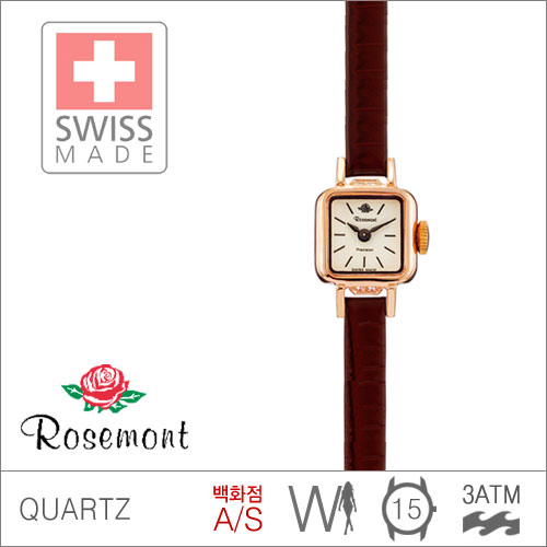 RS#5-06 [백화점AS/당일발송] 우림FMG본사정품 RS5-06 MADE IN SWISS {ROSEMONT 로즈몽} MILANESE SERIES BERLIN1982 3ATM 생활방수 (쿼츠:15mm)